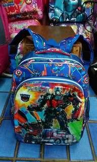Tas Sekolah Transformers Biru