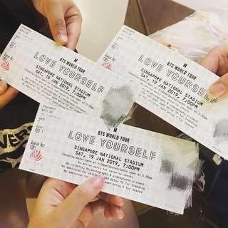 [Trade]BTS Loveyourself Tour Singapore concert tickets