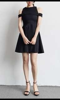 Off shoulder black dress -Size M