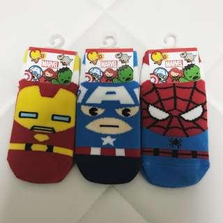 BNWT Marvel Socks (Iron man, Captain America, Spiderman)