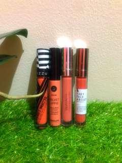 Sepaket 4 lipstik they talk about, mizzu, absolut and wardah all nude color
