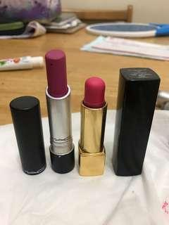 Mac Lipstick and Chanel lipstick my own collection it's authentic bought in pavilion 35 each 65 for two