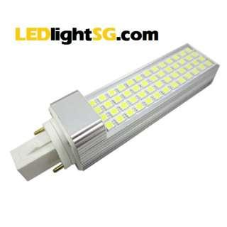G24 LED PLC Downlight Replacement Bulb 8W Taiwan Chip 1 yr warranty (white / warm white), square base 2 pin