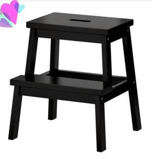 腳踏梯(實木)可作椅坐