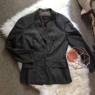 Country Road 8 women grey suit jacket blazer work career formal long sleeve