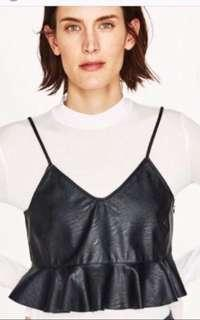 ZARA Faux Leather Croptop