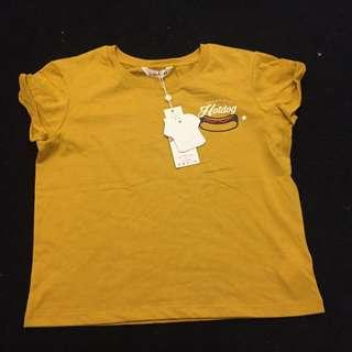 🔥 Supré Yellow/Mustard Baby Tee