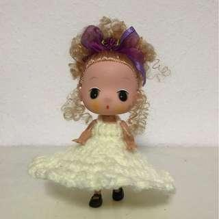Handcrafted Crotchet Dress with Toy Doll