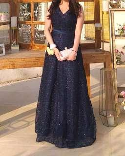 Navy Blue Evening/ Prom dress