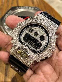 🔥🔥🔥 Original Dw-6900 G-Shock in custom crystal metal bezel. dw6900 bling bling , crystal gshock , bling bling gshock , gshock , g-shock , GSHOCK , G-SHOCK , Casio , CASIO , casio