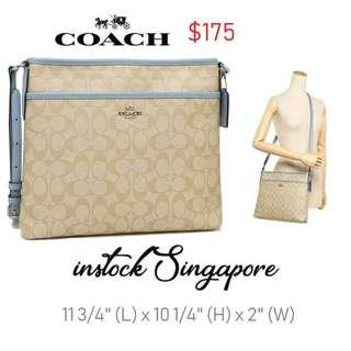 90ddebe9a5 READY STOCK authentic new Coach FILE BAG IN SIGNATURE (COACH F58297)