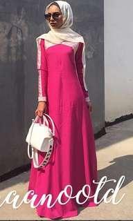 Pink dress or jubah