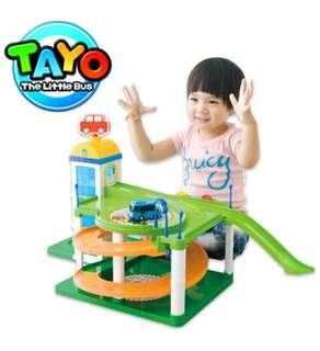 Big Tayo bus carpark playground toy set