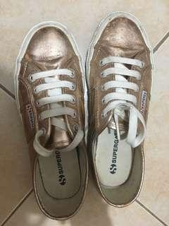 SUPERGA PINK METALLIC SHOES