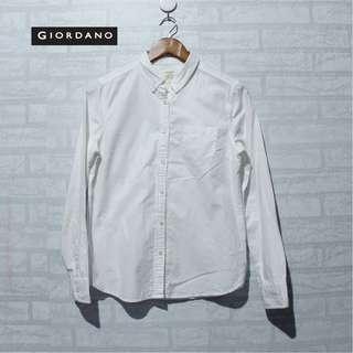 Kemeja Giordano White Shirt 100% Cotton