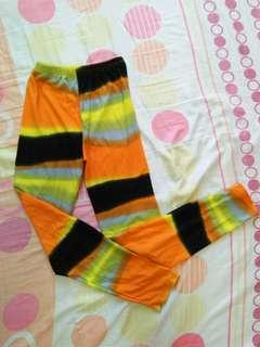 Colorful Garterized Jeggings