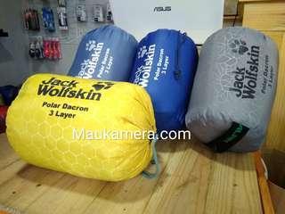 Sleeping bag 3 Layer  bahan Polar Dacron Kantung Tidur SB Outdoor Tebal dan Hangat Water resistant
