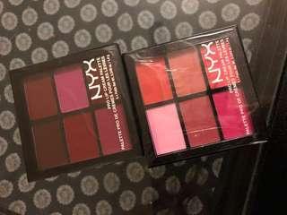 Nyx pro lip cream palettes 2 for $15