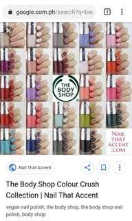 Lot of The Body Shop Color Crush Nail Polish