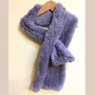 Sherry Cassin 100% Rabbit Fur Keyhole Neck Scarf