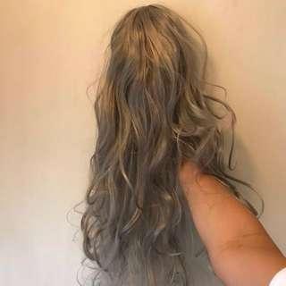 「減價」Sammi 銀灰色長假髮