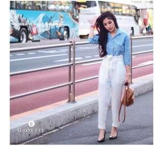 Iconette white marilyn pants