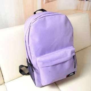 背包雙肩包韓版學院風電腦包純色帆布潮包