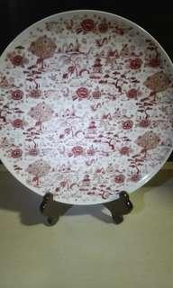 中國骨瓷碟,10吋半。