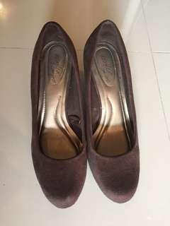 REPRICED! Brown wedge shoes