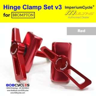 ImperiumCycle Hinge Clamp Set for Bromptons