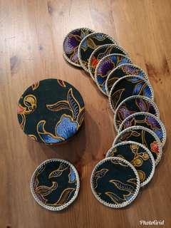 Vintage Peranakan Batik coasters