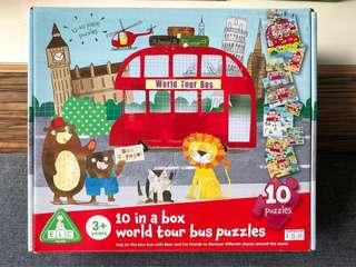 Puzzles ELC 10 in a Box World Tour Bus