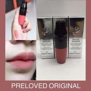 ASLI SEPHORA Preloved Lancome Matte Shaker Liquid Lipstick 272 Energy Peach