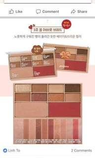 Korea eyeshadows and blushes pallet
