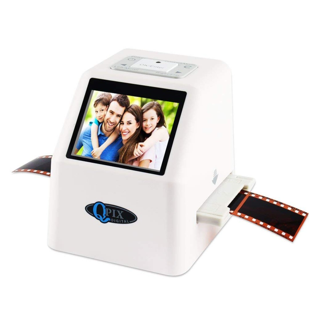 1029  QPIX High Resolution Portable Film Scanner 22MP/14MP Scans Slides and  Negatives 35mm, 110 Film,126KPK Film and Super 8mm 2 4
