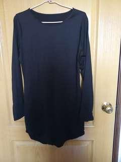 🚚 歐美風黑色長版衣