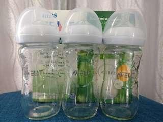 Avent natural glass feeding bottle & Teats