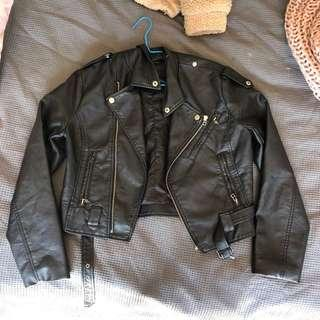 SHOWPO rocker chick leather jacket