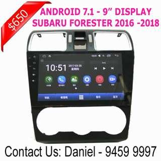 "SUBARU FORESTER Android 7.1 - 9""Display Multimedia AV Receiver"
