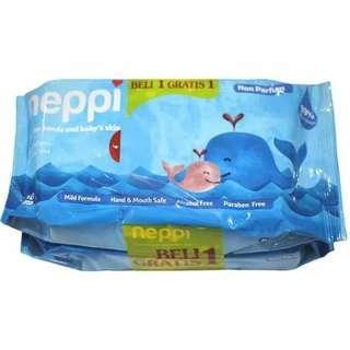 Tissue Basah Neppi Blue Buy 1 get 1 Free #jualanibu