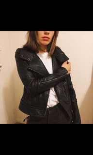 Mackage Leather Fitted Jacket