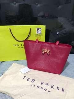 TED BAKER Larah Bow Leather Small with new tag