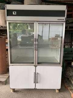 Dual 4 door display chiller freezer BERJAYA