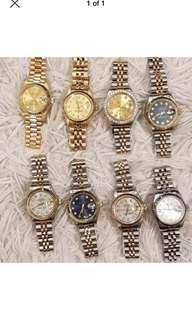 Rolex date just 26mm ladies 2 tone 18k/ss
