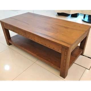 Solid Teak Wood Coffee Table - Excellent Condition
