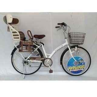 進口日本親子淑女腳踏自行單車配裝日本原廠OGK後童座椅型號: RBC-007DX3 (附頭靠)