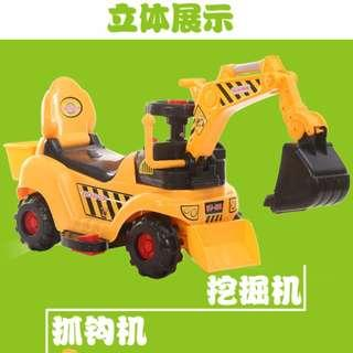 (PL) Electric Excavator Ride On Toy Car (Upgraded Large Version) - Like New