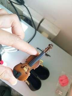 微型小提琴擺設