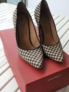 Houndstooth Ferragamo Heels