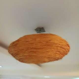 (PL) Bird Nest Wicker Rattan Pendant Designer Ceiling Light